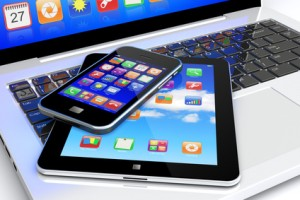Laptop, iPad, smartphone and Apps,